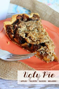 Ugly Pie - Filled with granny smith apples, chopped walnuts, raisins ...