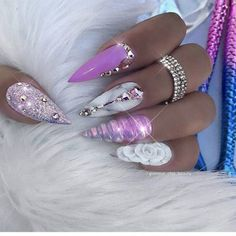 Acrylic Nails are probably the most trending buzzword within the style business now. From Acrylic Nails for Summers to Winters to the number of Acrylic Nail Designs and Acrylic Nail shapes – Discover Glam Nails, Dope Nails, Bling Nails, Stiletto Nails, Coffin Nails, Beauty Nails, Glitter Nails, Purple Acrylic Nails, Purple Nails