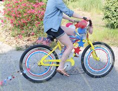 Fourth of July Decorated Bikes, sweet memories from childhood #tradition #america