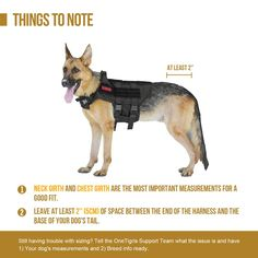 Tactical Power K-9 Adventure Dog Harness Warning Labels Canine Patches S M L XL