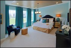Gramercy Park model master bedroom by Miller & Smith- Clarksburg, MD Master Bedroom, Bedroom Decor, Gramercy Park, Real Estate Development, New Homes For Sale, Model Homes, Home Buying, Building A House, The Originals