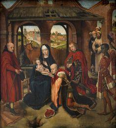 The Adoration of the Magi / La Adoración de los Magos // 1460-1470 // Master of the Prado Adoration of the Magi (Copy after Rogier van der Weyden) // Museo del Prado // #Epiphany
