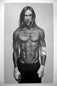 Iggy Pop Art by Independent Artists. Iggy Pop, George Clooney, Iggy And The Stooges, Artistic Photography, Music Is Life, Rock N Roll, Creative Art, Pop Art, Superhero