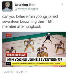 Yoongi and jungkook lol. Bts Memes, Funny Memes, Jokes, Bts Suga, Bts Bangtan Boy, Seventeen Memes, Seokjin, Namjoon, Taehyung