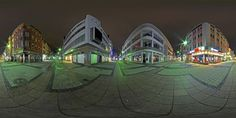 360x180 Grad abends Kaiserslautern, Grad, Opera House, Clouds, Building, Travel, Night, Viajes, Buildings