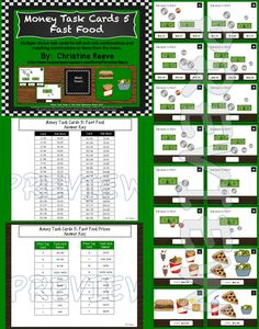 These cards are great for 1st and 2nd graders working on money skills to introduce adding bills and coin values as well as special education students working on life skills. I specifically geared the items and tasks to be appropriate for secondary students in special education. $3