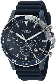 Fossil Mens CH3054 Crewmaster Sport Chronograph Blue Silicone Watch http://ift.tt/2kdI5FP
