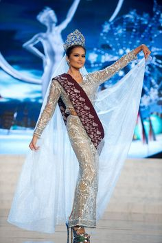 Miss Philippines 2012, Janine Tugonon, performs onstage at the 2012 Miss Universe National Costume Show on Friday, Dec. 14, 2012 at PH Live in Las Vegas, Nevada.
