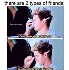 There's the Zayn kind of friends....and then there's the Louis type of friends. XD