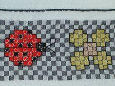 ~*~ Amigas_do_croche® ~*~: bordado em tecido xadrez - embroidery fabric grid - simonis uzum