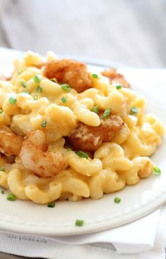 Three Cheese Shrimp Macaroni and Cheese Recipe