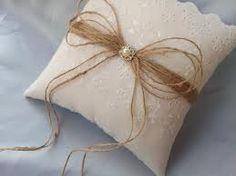 ring bearer pillow burlap - Google Search