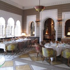 The Royal Mansour's La Table restaurant. Photo: Mitchell Owens
