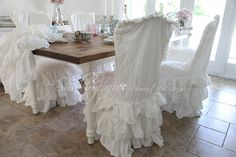I normally hate chair covers~ but these are growing on me for the right application....