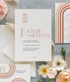 Top Wedding Color Trends for 2020 Wedding Invitation Design, Wedding Stationary, Blush Wedding Invitations, Colorful Wedding Invitations, Modern Wedding Stationery, Wedding Card Design, Invitation Wording, Invitation Suite, Invites