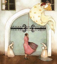 tiny yellow bird: Illustration Inspiration: Lisbeth Zwerger