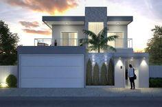 Home Design Plan Meters - Modern Architecture Dream House Exterior, Dream House Plans, Octagon House, Modern Fence Design, House Construction Plan, Model House Plan, Basement House Plans, Beautiful Home Designs, House Front Design