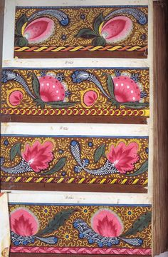 Designs for block print fabric, French,  early 19th century
