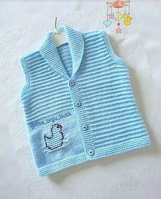 Baby Boy Cardigan, Baby Girl Sweaters, Half Sweater, Happy Evening, Cardigan Pattern, Knit Vest, Baby Knitting Patterns, Baby Kids, Crochet