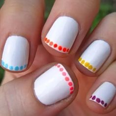 Decorating hand nails and foot nails with nail polish is known as Nail art and it is popular all over the world. Many women spend hours and hours in nail design parlors to beautify their nails. Take a look at these Easy Nail Designs for Beginners that are Simple Nail Art Designs, Short Nail Designs, Cute Nail Designs, Nail Designs For Kids, Fingernail Designs, Easy Designs, Nail Designs Summer Easy, Easy Toenail Designs, Easy Nail Polish Designs
