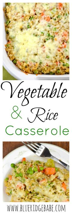 Creamy vegetable & rice casserole - a lightened up comfort food that vegetarians and meat eaters alike will love!