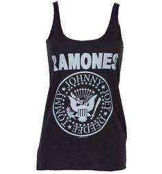 Ladies Ramones Logo Strappy Vest