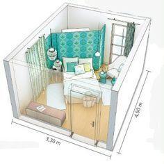 Bedroom for small room - interior design examples Closet Bedroom, Home Bedroom, Diy Bedroom Decor, Bedroom Ideas, Bedroom Small, Living Room Storage, Bedroom Storage, Bed Storage, Storage Ideas