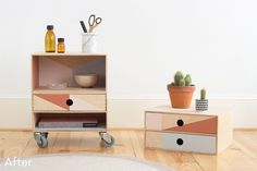 How To: Turn Simple Wooden Boxes into a Colorful Rolling Storage Unit