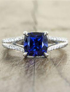 Unique Custom Engagement Rings by Ken & Dana Design - Eloise top view