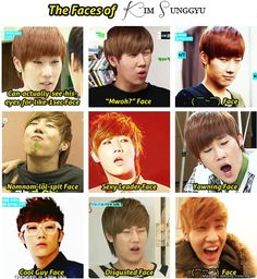 The many faces of Kim Sunggyu