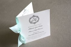 25  Booklet Programs with Satin Ribbon  24 by TieThatBindsWeddings