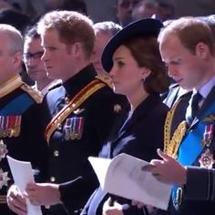 """""""Brief moment of the 3 royals at the Afghanistan Service of Commemoration.  #royals #royalfamily #katemiddleton #duchessofcambridge #princess #womancrush #wcw #london #britain"""" Photo taken by @katemiddletonvideos on Instagram, pinned via the InstaPin iOS App! http://www.instapinapp.com (03/15/2015)"""