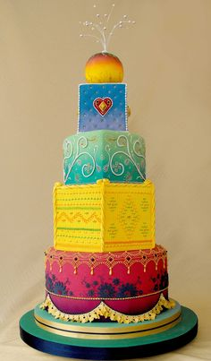 Image detail for -Bollywood wedding cake by ~louise-art on deviantART