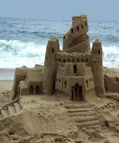 Take some time to build a sand castle. don't forget to take a snapshot of it!