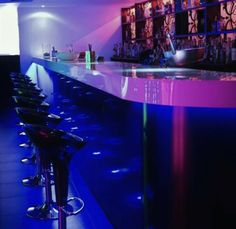 Nightclub Bar, Nightclub Design, Hookah Lounge, Bar Lounge, Club Ambiance, Bar Pub, Design Bar Restaurant, Night Life, Neon