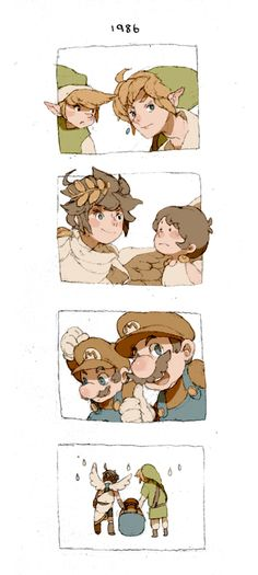 After 25 years, by Luce-in-the-sky.deviantart.com on @deviantART EVERYBODY GROWS UP! Ex-except you, Mario...