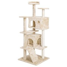 """cat scratching post twine - Xstiger 51\"""" Cat tree Furniture Tower Climbing Tree with 2 Condo/House (Beige)   #CatScratchingPost"""