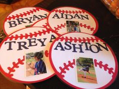Made these for the hotel doors during All Star baseball. Great baseball idea for any select or All Star baseball team traveling. The kids love seeing their photo.