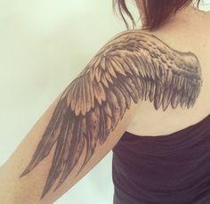 Wing Tattoo Design, Back Shoulder  