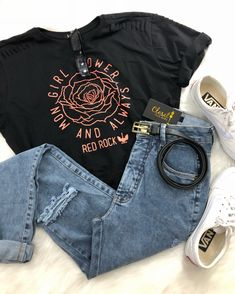 How To Wear Tshirt Casual Jeans 63 Ideas Grunge Outfits, Trendy Outfits, Fall Outfits, Summer Outfits, Cute Outfits, Fashion Outfits, Womens Fashion, Grunge Look, Teenager Outfits