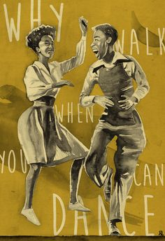 Lindy Hop Dancers Poster by BeautyFliesAround on Etsy https://www.etsy.com/ca/listing/505410753/lindy-hop-dancers-poster
