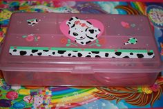 Spotty Dotty Pencil Box sanrio Poodle pup by NiftyVintageGirl, $24.00