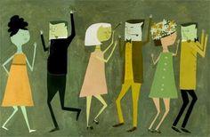 Dancing original painting by Matte Stephens