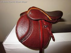 English saddle - Model horse tack - Carrie Sloan Meyer