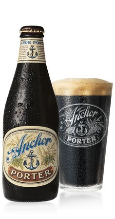 Anchor Porter from Anchor Steam in San Francisco: With deep black color, a thick, creamy head, rich chocolate, toffee and coffee flavors, and full-bodied smoothness, Anchor Porter® is the epitome of a handcrafted dark beer.