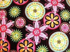 MICHAEL MILLER  Cotton Fabric / Carnival bloom via Etsy