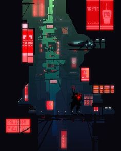 """chancellorwee: """" A cyberpunk city-ish thing from me.Took me around 2 days to finish . Honestly i wasn't satisfied with the picture apart from the root scout as i could have added more detail but I just didn't know how.At least it turned out to be..."""