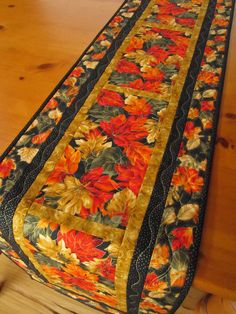 Autumn Leaves Handmade Quilted Table Runner on The CraftStar @TheCraftStar #uniquegifts