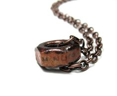 Copper Industrial Chic Hex Nut Men's Necklace I'm by jewelrybyNaLa, $35.50