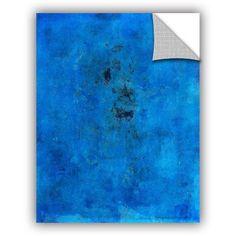 ArtAppealz Elena Ray Blue Grunge Removable Wall Art, Size: 36 x 48, Purple